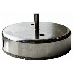 For drilling into hard tiles. Ideal for 115mm holes needed for bathroom or kitchen accessories.