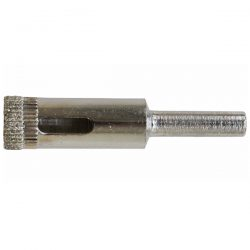 For drilling into hard tiles. Ideal for 12mm holes needed for bathroom or kitchen accessories.