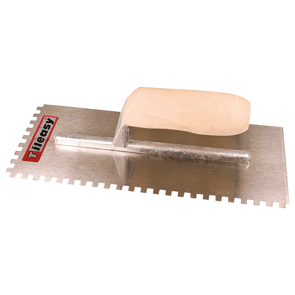 For applying adhesive when fixing wall tiles.