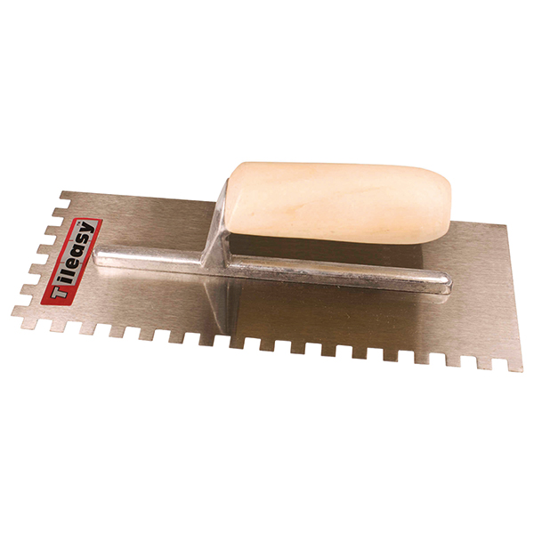 For applying adhesive when fixing wall/floor tiles.