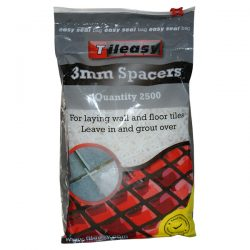 Bulk tile spacer bag, aimed at trade use. Incorporates and useful resealable design.