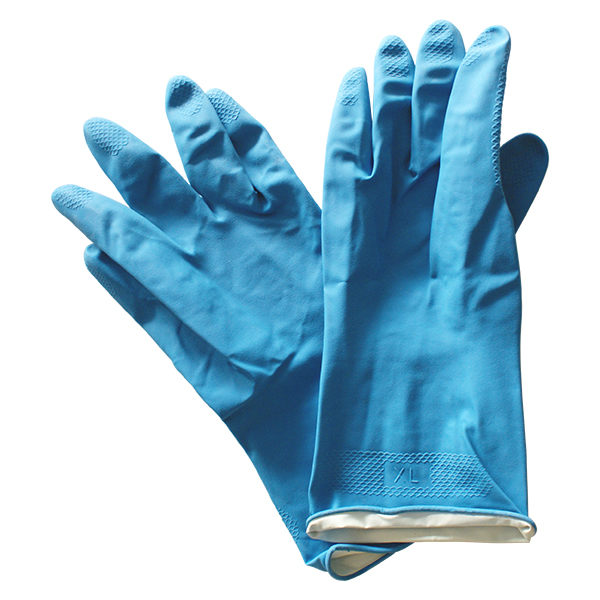 Large durable latex tiling gloves. For protection against skin irritation when grouting and mixing tile adhesive.