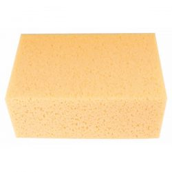 Professional high quality sponge, with amazing water retention, for cleaning off excess grout and adhesive residue from tiled surfaces.