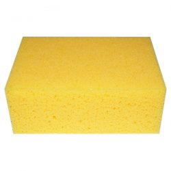 Quality sponge, with great water retention, for cleaning off excess grout and adhesive residue from tiled surfaces.