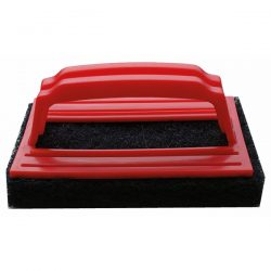A small coarse scouring pad, for the removal of stubborn grout and adhesive residue from tiled surfaces.