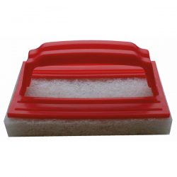 A small fine scouring pad, for the removal of grout and adhesive residue from tiled surfaces.