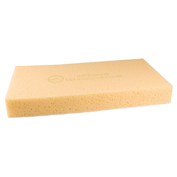 The segmented sponge allows for collection of residue over uneven surfaces.