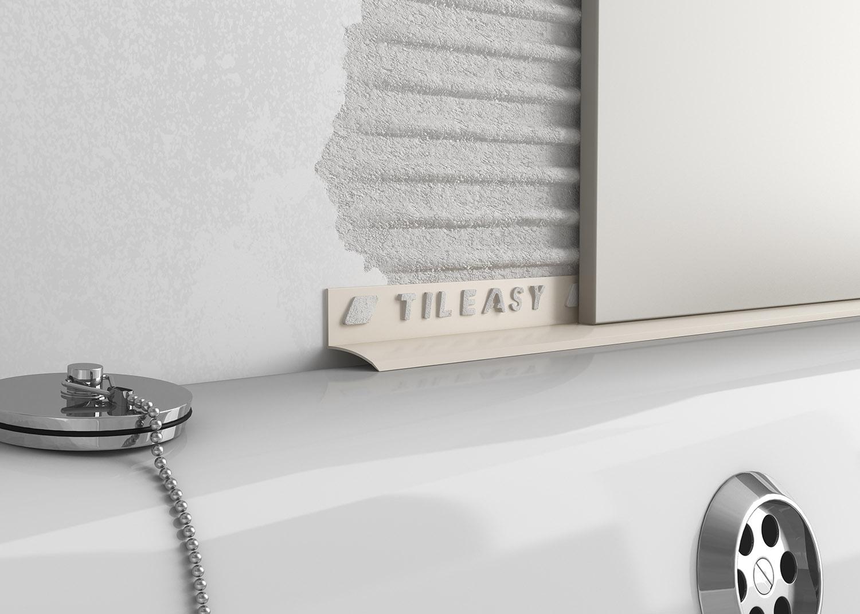 plastic contract bath seal tileasy. Black Bedroom Furniture Sets. Home Design Ideas