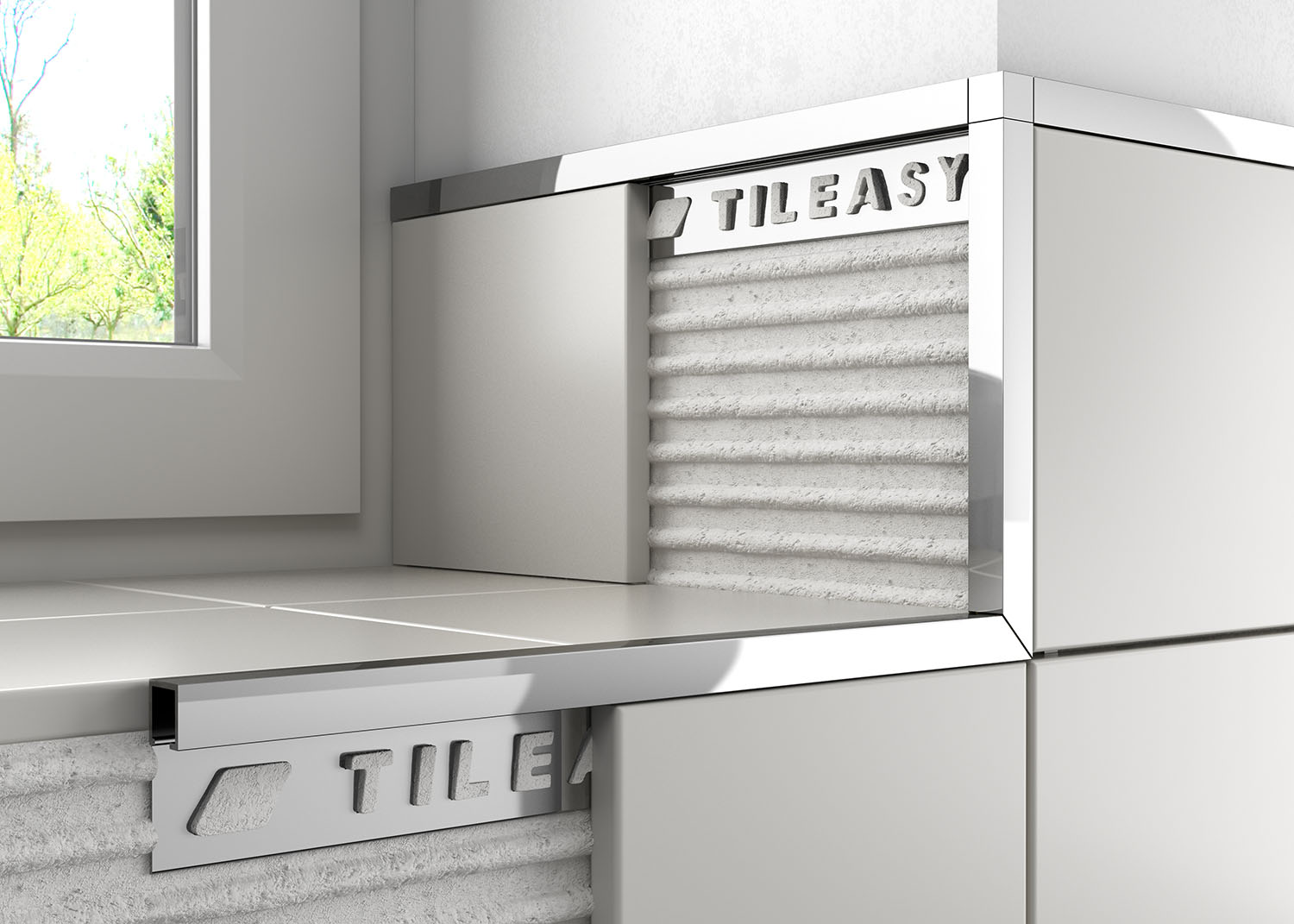 Metal Box Tile Trim Features A Straight Profile Which Has Been Designed To Give Contemporary