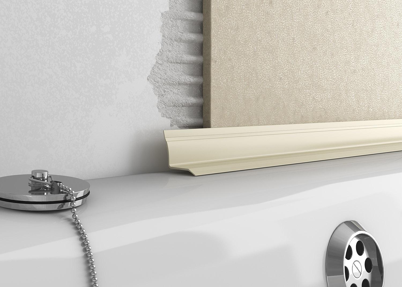 plastic overtile bath seal tileasy. Black Bedroom Furniture Sets. Home Design Ideas