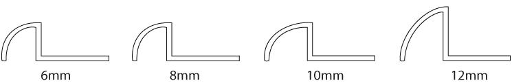 Plastic pro tile trim profiles