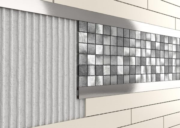 Square edge Pencil and Listello bars will add a contemporary and stylish finish to plain tiled areas. Perfect for making a feature with mosaic tiles.