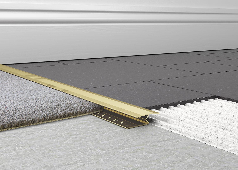 Metal Carpet To Tile Trim 1 Piece Knock Down Tileasy
