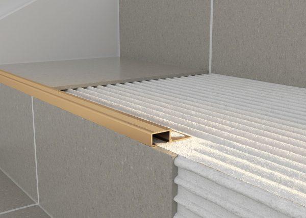 Tileasy Matt Gold Stair Edging